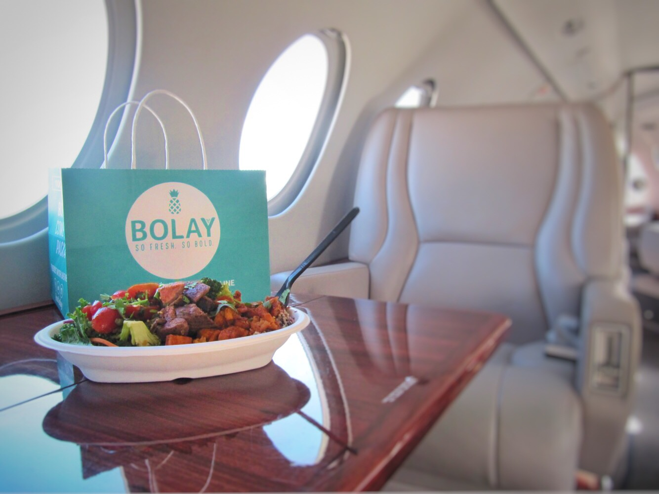 Stay healthy when flying with us! Free Raw Juce and Bolay